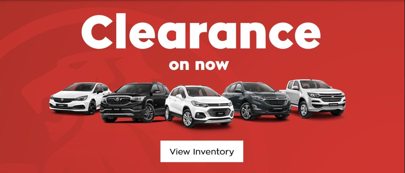 Holden Clearance Sale